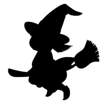 [フリーイラスト] 魔女のシルエット - パブリックドメインQ:著作権フリー画像素材集