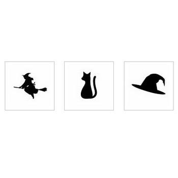 魔女|シルエット イラストの無料ダウンロードサイト「シルエットAC」