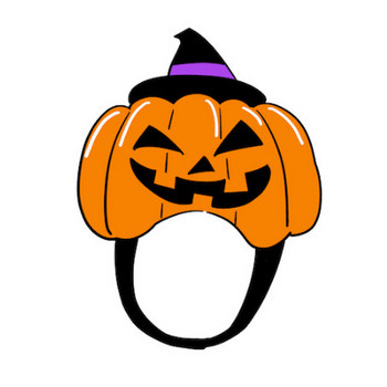 ハロウィンの仮装お化けかぼちゃのかぶり物イラスト | 素材屋きんぎょ