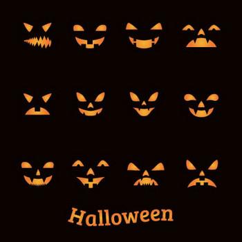 ハロウィンかぼちゃランタン/デザインのイラストai/eps | ベクタークラブ<イラストレーター素材が無料>