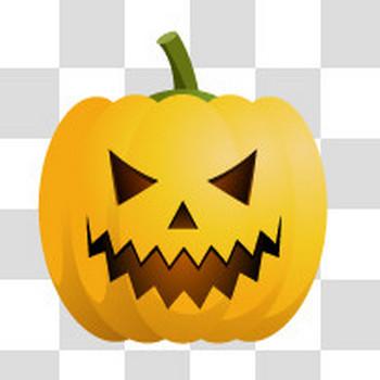 ハロウィン用のホラー系かぼちゃのフリーイラスト素材