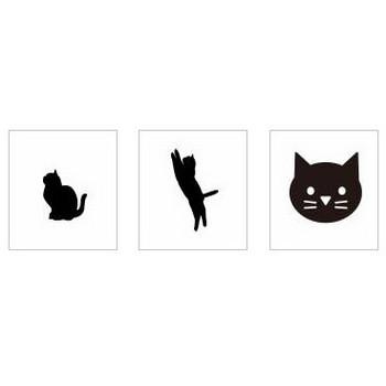 黒猫|シルエット イラストの無料ダウンロードサイト「シルエットAC」