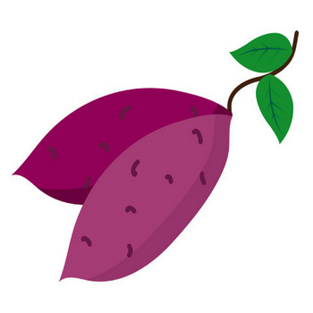 [無料イラスト] 葉っぱ付きのサツマイモ - パブリックドメインQ:著作権フリー画像素材集