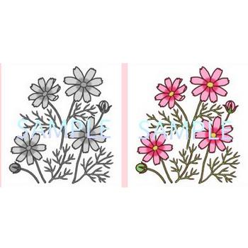 秋の花1【お花と季節のお礼状】無料イラスト素材