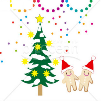 クリスマスツリーとジンジャーブレッドマン|テンプレートのダウンロードは【書式の王様】