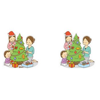 クリスマスのイラスト素材4・クリスマスツリー | 子供と動物のイラスト屋さん わたなべふみ