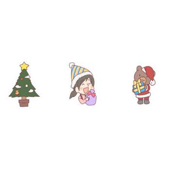 クリスマスのイラスト | かわいいフリー素材が無料のイラストレイン