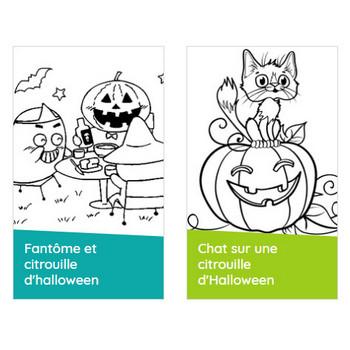Coloriage citrouilles d'Halloween sur Hugolescargot.com
