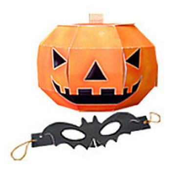 ハロウィンお化けかぼちゃ コウモリマスク 無料素材 ダウンロード | ペーパーミュージアム