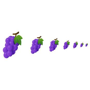 フルーツ-ぶどう - アイコン素材