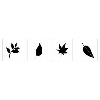 落ち葉|シルエット イラストの無料ダウンロードサイト「シルエットAC」