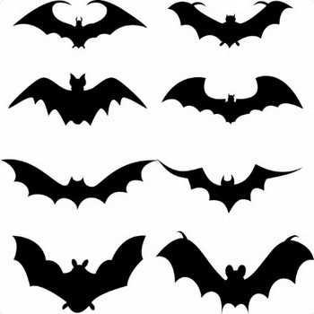 Set of bat silhouette Free vector in Adobe Illustrator ai ( .AI ), Encapsulated PostScript eps ( .EPS ) format for free download 349.67KB
