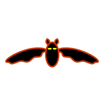 コウモリのイラスト(1)|フリー素材 イラストカット.com