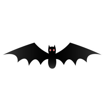 Cute Black Halloween Bat - Free Clip Art
