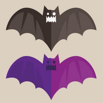フラットな蝙蝠のフリーイラスト – クリスマス・ハロウィン、お正月イラストEVENTs Design