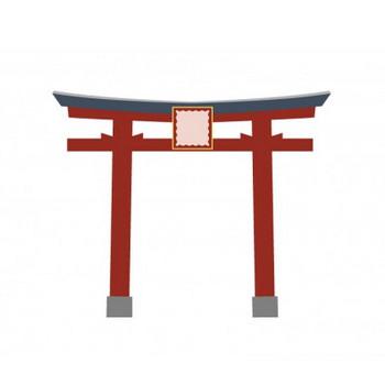赤い鳥居イラスト素材   イラスト無料・かわいいテンプレート
