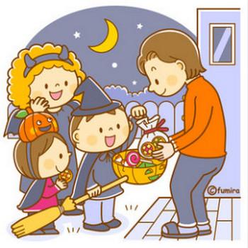【クリップアート】ハロウィン・お菓子をもらいに行くこどもたちのイラスト : 子供と動物のイラスト屋さん(イラストレーターわたなべふみ)のブログ