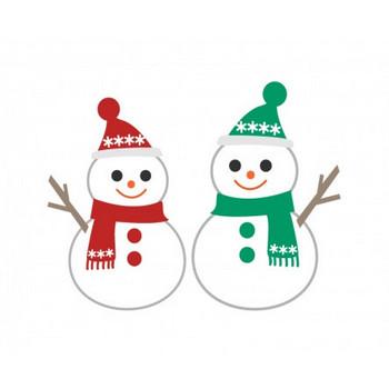 雪だるまのイラスト素材   イラスト無料・かわいいテンプレート