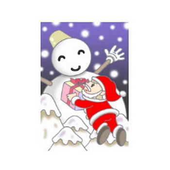 無料 四季・季節行事・祝日祭日のイラスト - (クリスマス・クリスマスイヴ・サンタクロース・雪だるま・聖夜・X`mas)