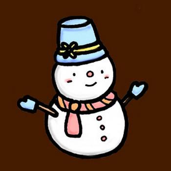 雪だるまの素材イラスト   イラスト素材:パンコス