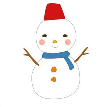 雪だるまのかわいいイラスト <無料>   イラストK
