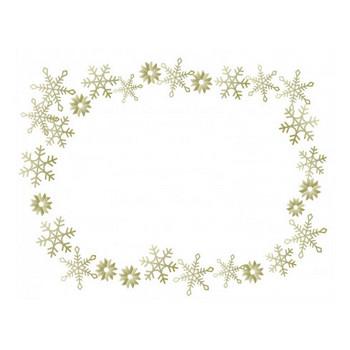 雪の結晶(ゴールド)のフレーム・枠素材 | イラスト無料・かわいいテンプレート