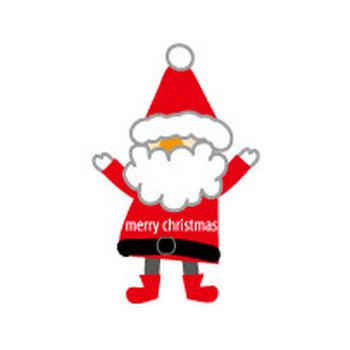 クリスマス・サンタクロース-無料イラスト/フリー素材