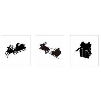 サンタ|シルエット イラストの無料ダウンロードサイト「シルエットAC」