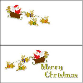 クリスマス無料素材・サンタクロースのイラスト(クリスマス)