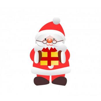 プレゼントとサンタクロースのイラスト素材 | イラスト無料・かわいいテンプレート