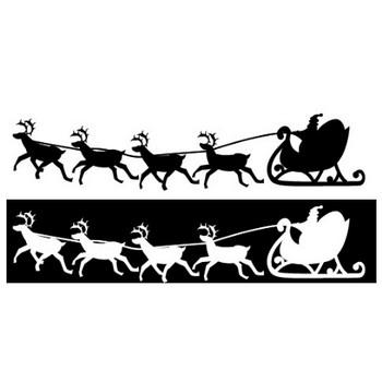 サンタとトナカイのシルエットイラスト 画像フリー素材|無料素材倶楽部