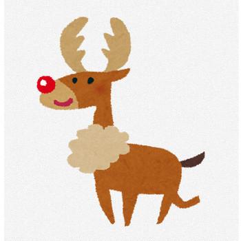 クリスマスのイラスト「トナカイ」 | かわいいフリー素材集 いらすとや