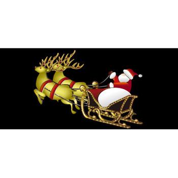 無料|WEB素材|イラスト|クリスマス/トナカイとサンタクロース