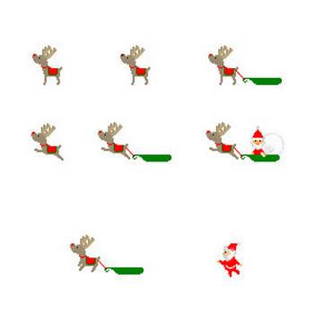 フリー素材 無料イラスト/クリスマスのイラスト(サンタクロース・トナカイ)