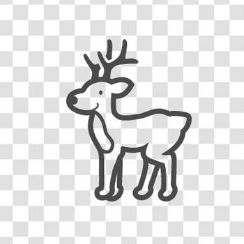 クリスマスのトナカイの無料イラストアイコン素材 2 | 商用可の無料(フリー)のアイコン素材をダウンロードできるサイト『icon rainbow』