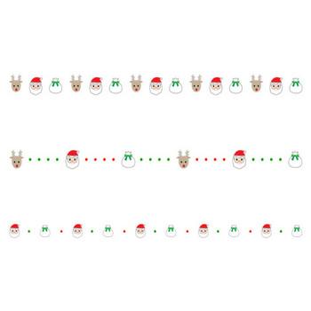 サンタやトナカイのクリスマスの罫線イラスト | 無料の線・ライン素材 飾り罫線イラスト.com