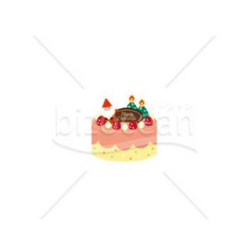 サンタクロースのクリスマスケーキ|テンプレートのダウンロードは【書式の王様】