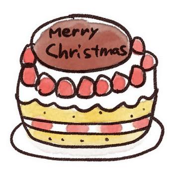 クリスマスケーキのイラスト「苺ケーキ」: ゆるかわいい無料イラスト素材集