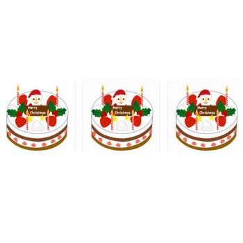 クリスマスケーキのイラスト1 | イラスト素材パラダイス 商用利用無料のイラスト素材