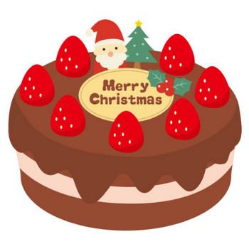 クリスマスケーキのイラスト<チョコレートクリーム> | 無料フリーイラスト素材集【Frame illust】