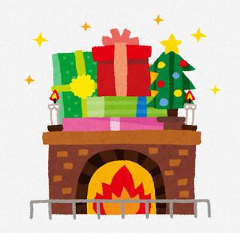 クリスマスのイラスト「暖炉」   かわいいフリー素材集 いらすとや