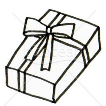 クリスマスプレゼント(線画) テンプレートのダウンロードは【書式の王様】