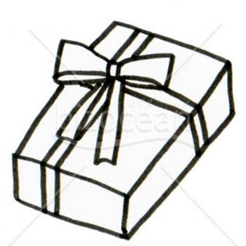 クリスマスプレゼント(線画)|テンプレートのダウンロードは【書式の王様】