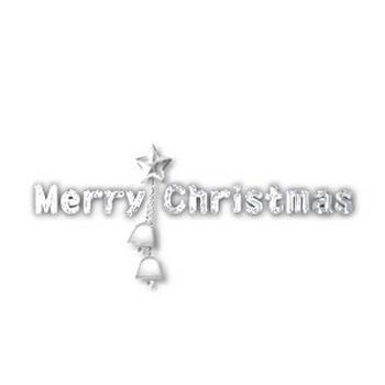 クリスマス素材【ロゴ】クリスマスベル・クリスマスキャンドル・星~HPフリー素材