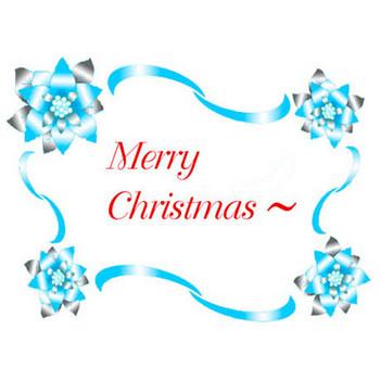 素材屋じゅん★クリスマスカード・フリー・無料素材・書体・メリークリスマス・ロゴ素材・クリスマスカード