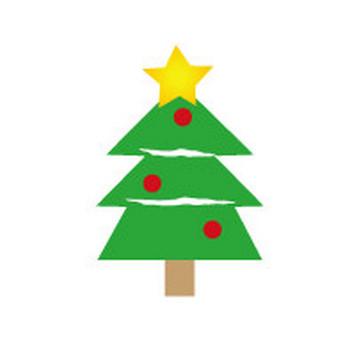 クリスマスのイラスト/イラスト無料フリー素材/クリスマスツリー