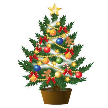 クリスマスツリーイラスト3 画像フリー素材|無料素材倶楽部