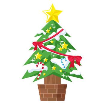 クリスマスツリーのイラスト素材 | ストックマテリアル
