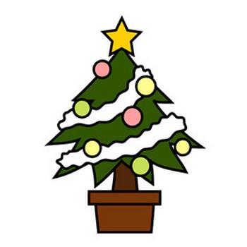 クリスマスツリー - クリップアート - 彩BOX.com