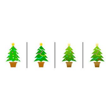 クリスマスツリーのイラスト|イラスト素材の素材ダス